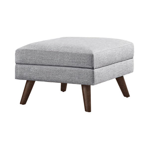 Churchill Collection Storage Ottoman in Grey