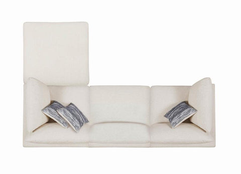 Serene Collection Ottoman in Beige