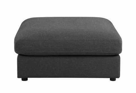 Serene Collection Ottoman in Charcoal