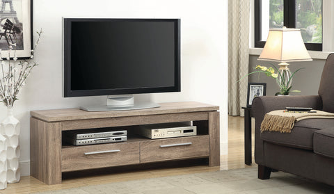 "Image of Westerham 59"" TV Console in Weathered Brown"