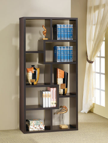 Image of Bruce Bookcase in Cappuccino