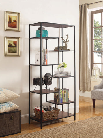 Image of Colt Single Bookcase in Walnut