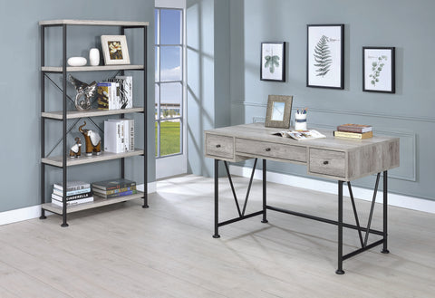 Analiese Bookcase in Grey Driftwood