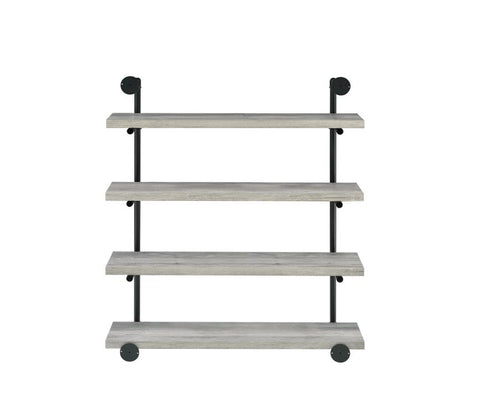 "Image of Delray 40"" Wall Shelf in Grey Driftwood"