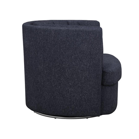 Osgood Swivel Chair in Blue Grey