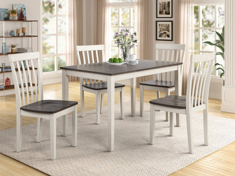 Image of Brody 5pc Dinette Set in White