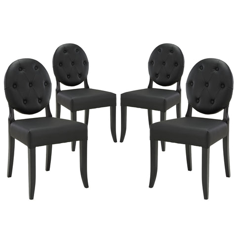 Image of Button Dining Side Chair Set of 4