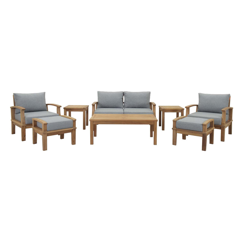 Marina 8 Piece Outdoor Patio Teak Set