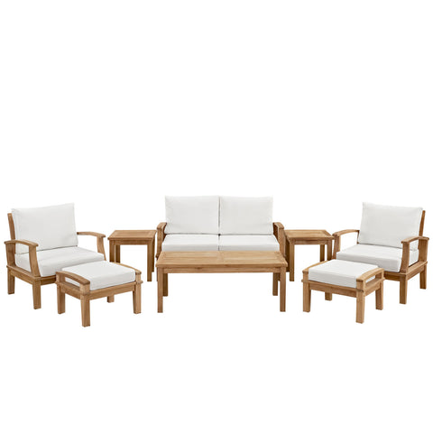 Image of Marina 8 Piece Outdoor Patio Teak Set