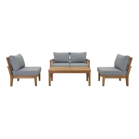Image of Marina 5 Piece Outdoor Patio Teak Set