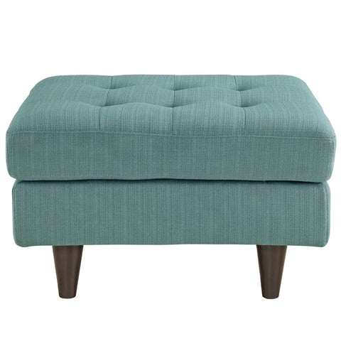 Image of Empress Upholstered Fabric Ottoman
