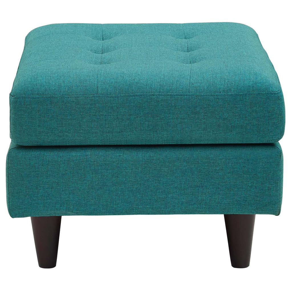 Empress Upholstered Fabric Ottoman