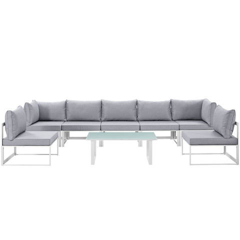 Image of Fortuna 8 Piece Outdoor Patio Sectional Sofa Set