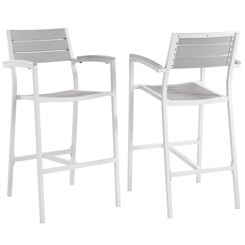 Maine Bar Stool Outdoor Patio Set of 2