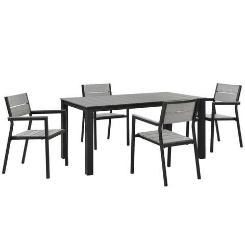 Image of Maine 5 Piece Outdoor Patio Dining Set