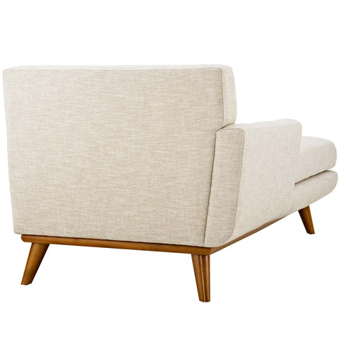 Image of Engage Left-Facing Upholstered Fabric Chaise