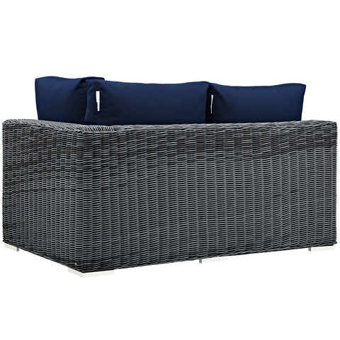 Image of Summon Outdoor Patio Sunbrella® Right Arm Loveseat