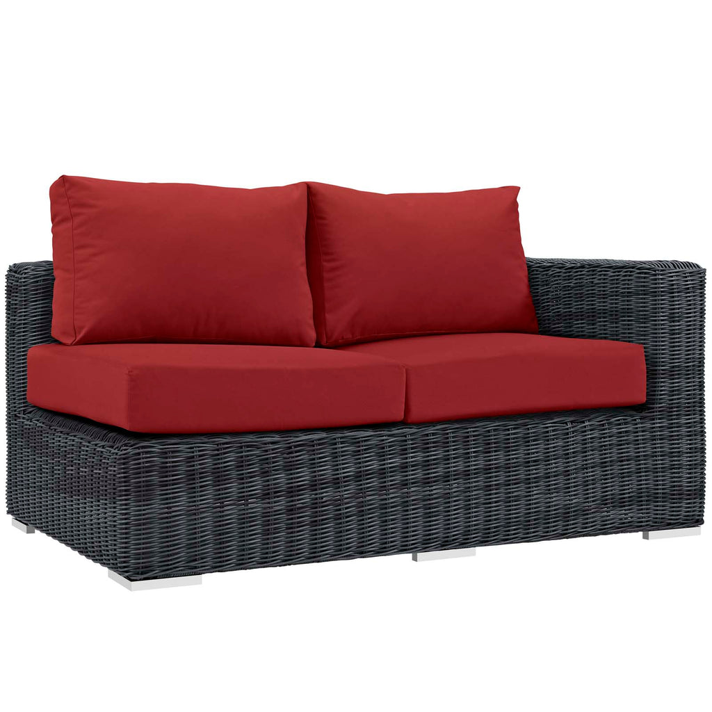 Summon Outdoor Patio Sunbrella® Right Arm Loveseat