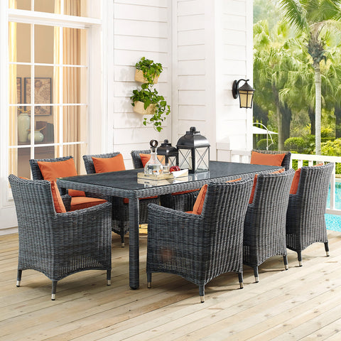 "Image of Summon 83"" Outdoor Patio Dining Table"