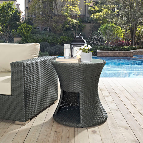 Image of Sojourn Round Outdoor Patio Side Table