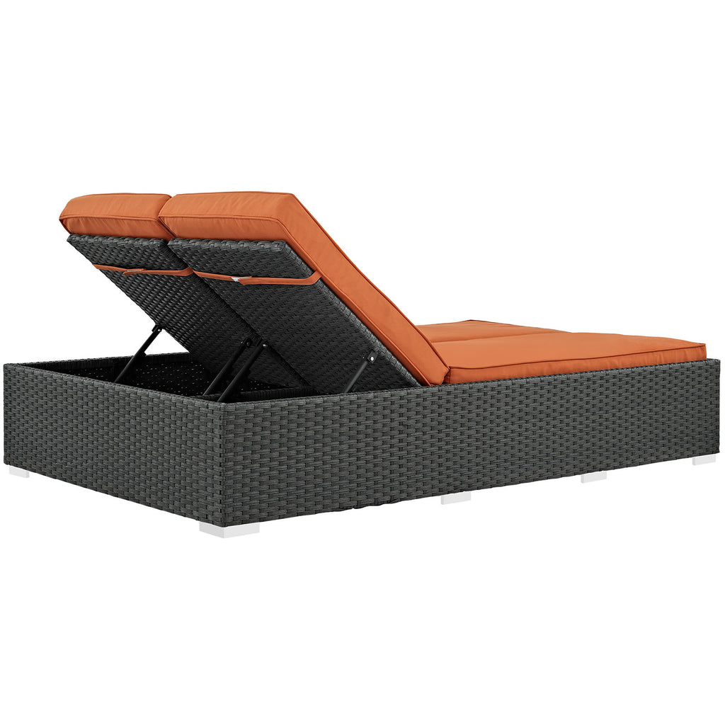 Sojourn Outdoor Patio Sunbrella® Double Chaise
