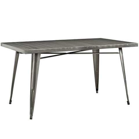 Image of Alacrity Rectangle Metal Dining Table