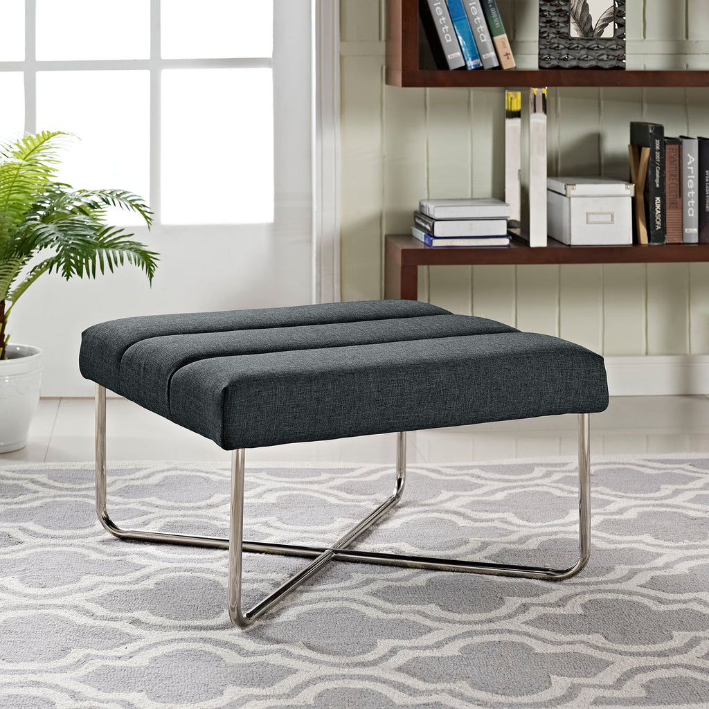 Reach Upholstered Fabric Ottoman