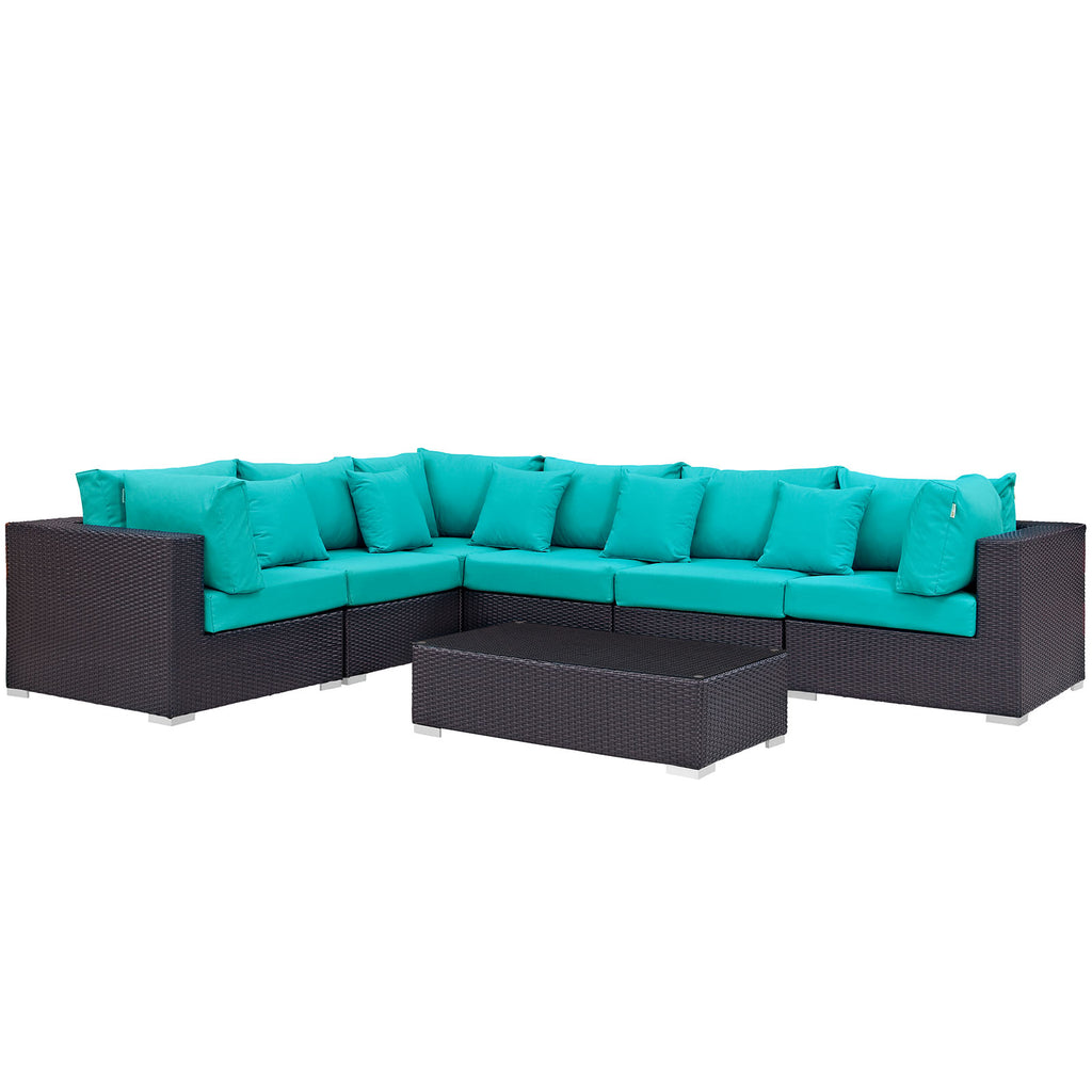Convene 7 Piece Outdoor Patio Sectional Set