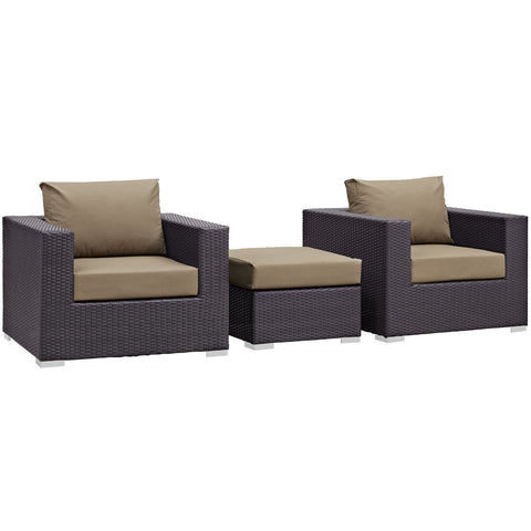 Image of Convene 3 Piece Outdoor Patio Sofa Set