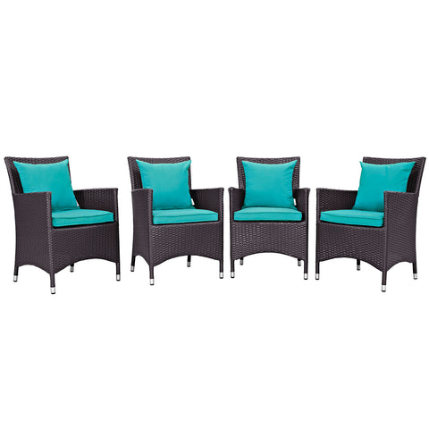 Image of Convene 4 Piece Outdoor Patio Dining Set