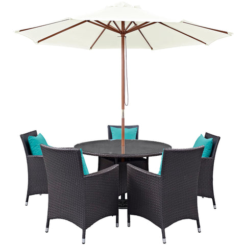 Image of Convene 7 Piece Outdoor Patio Dining Set
