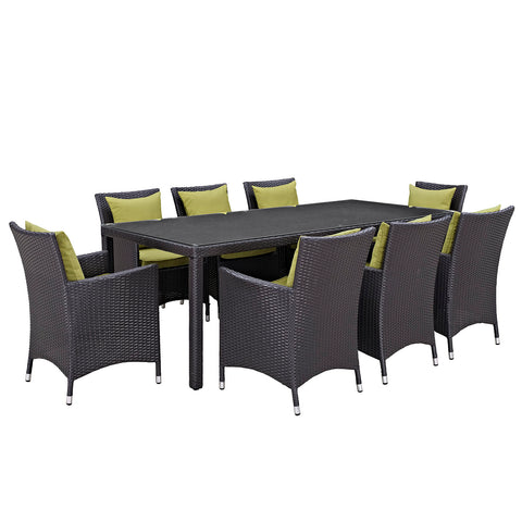 Image of Convene 9 Piece Outdoor Patio Dining Set