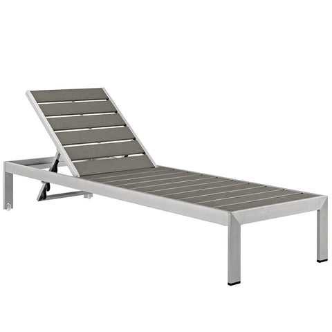 Image of Shore Outdoor Patio Aluminum Chaise