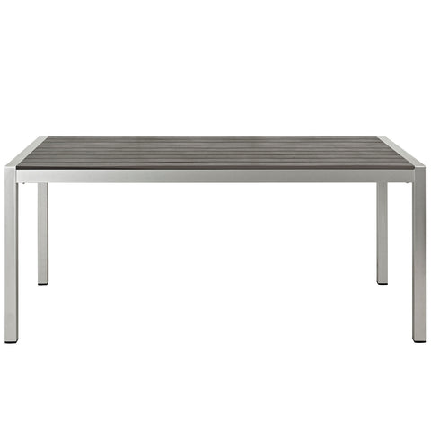 Image of Shore Outdoor Patio Aluminum Dining Table