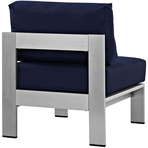 Image of Shore Armless Outdoor Patio Aluminum Chair