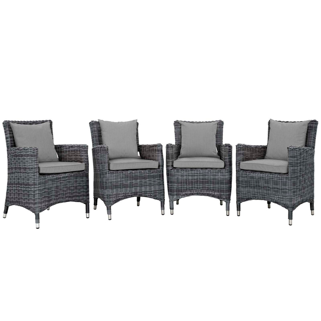 Summon 4 Piece Outdoor Patio Sunbrella® Dining Set