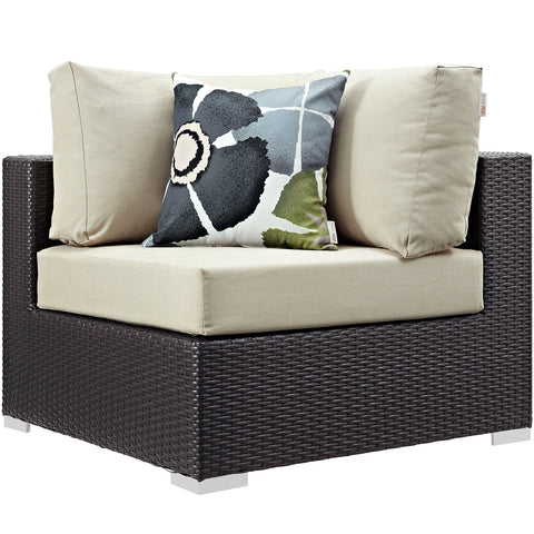 Image of Convene 5 Piece Outdoor Patio Sectional Set