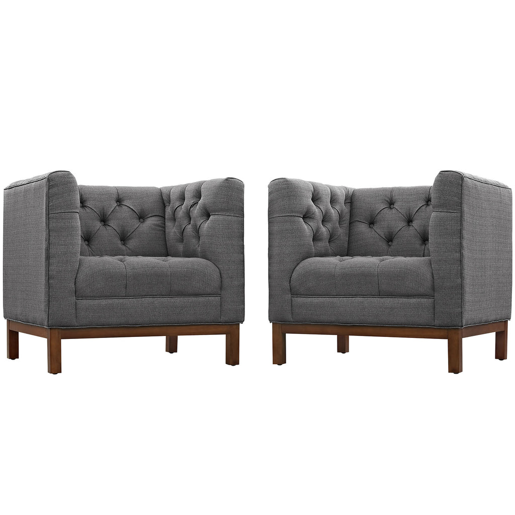 Panache Living Room Set Upholstered Fabric Set of 2