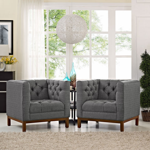 Image of Panache Living Room Set Upholstered Fabric Set of 2