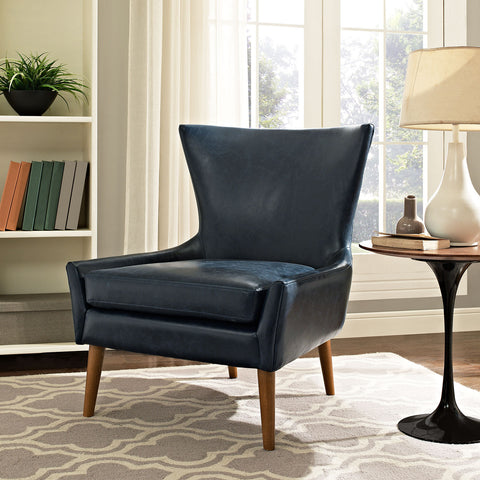 Image of Keen Upholstered Vinyl Armchair