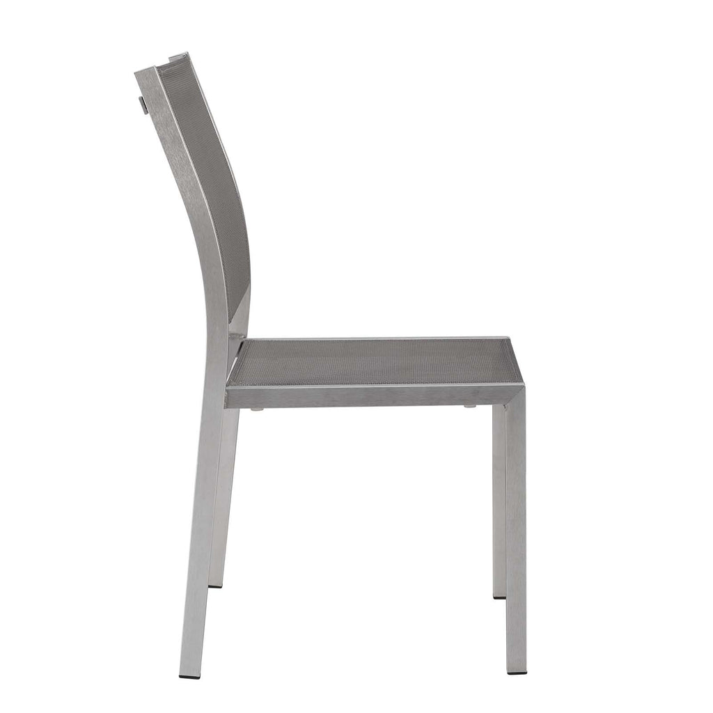 Shore Side Chair Outdoor Patio Aluminum Set of 2
