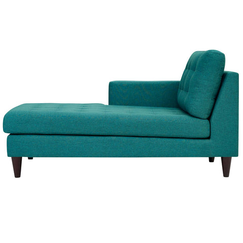 Empress Left-Arm Upholstered Fabric Chaise