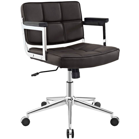 Image of Portray Mid Back Upholstered Vinyl Office Chair
