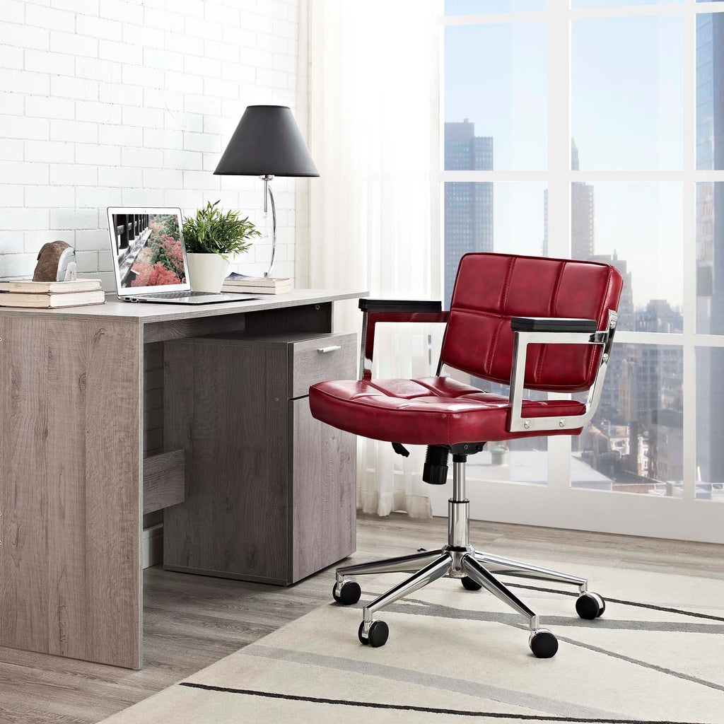 Portray Mid Back Upholstered Vinyl Office Chair