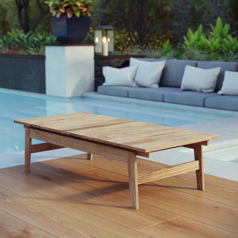 Image of Bayport Outdoor Patio Teak Coffee Table