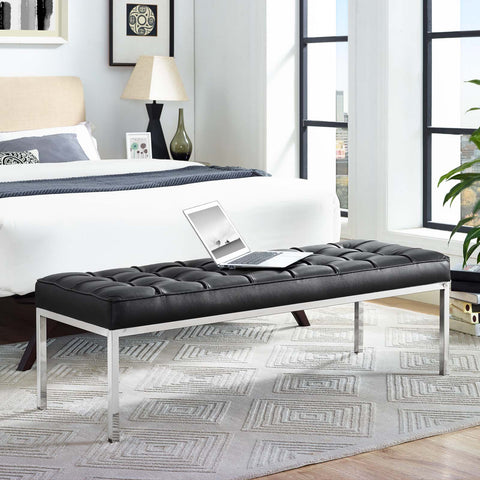 Image of Loft Leather Bench