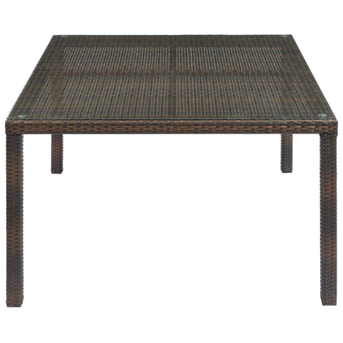 "Image of Conduit 47"" Outdoor Patio Wicker Rattan Dining Table"