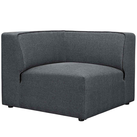 Image of Mingle 5 Piece Upholstered Fabric Armless Sectional Sofa Set