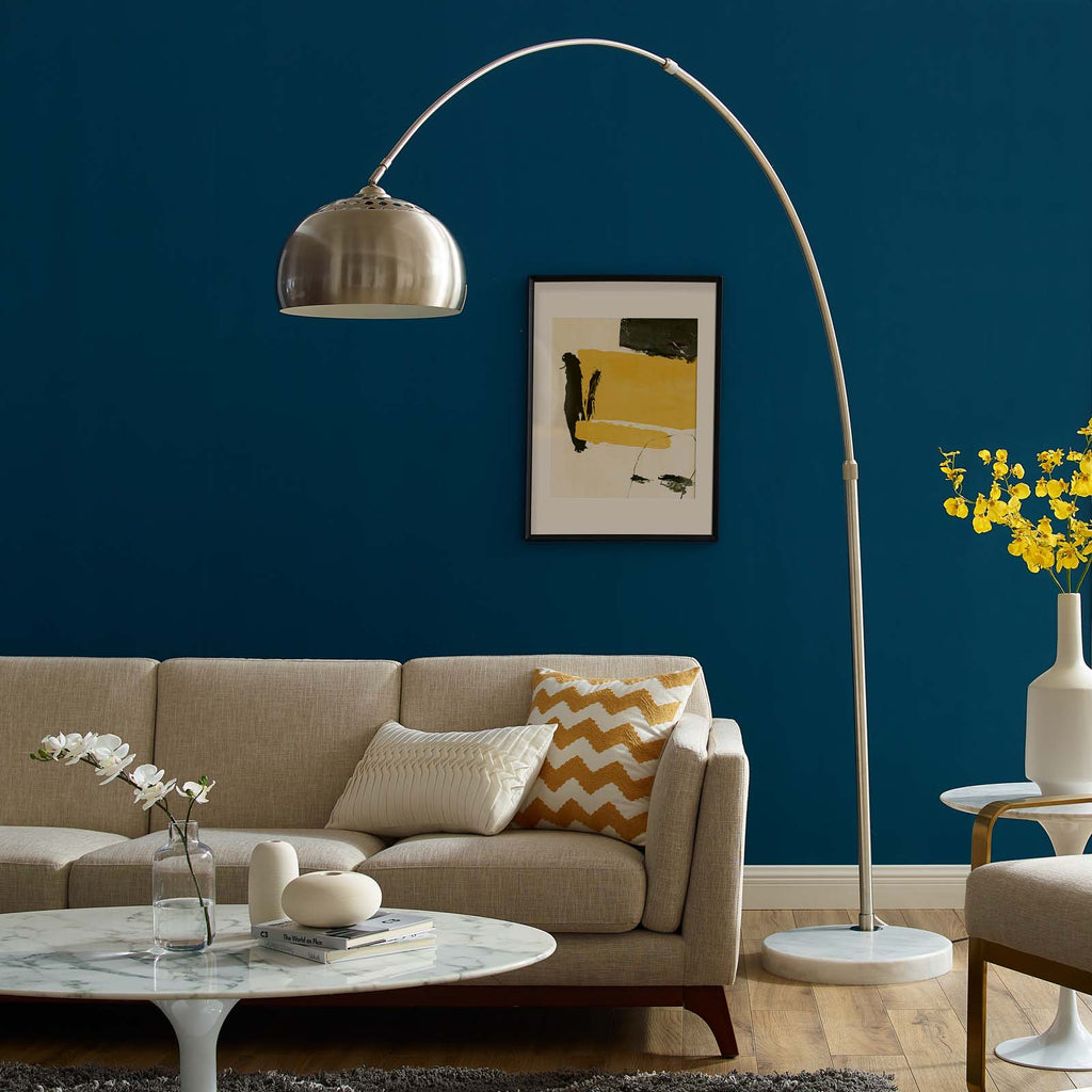 Sunflower Round Marble Base Floor Lamp