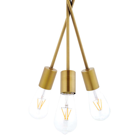 Image of Strive Brass Pendant Chandelier